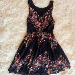 Flirty Floral Lace Fit & Flare Dress